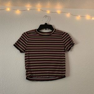 Fall Colors Stripped Crop Top